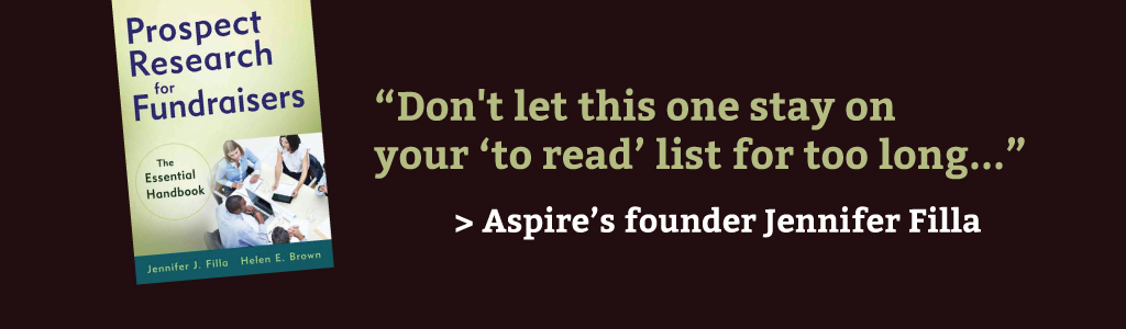 """Don't let this one stay on your 'to read' list for too long..."" > Aspire's founder Jennifer Filla"